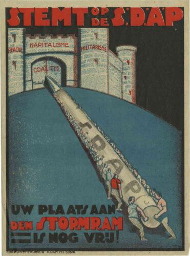 SDAP affiche met slogan uit 1920