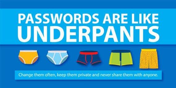 wachtwoorden zijn als onderbroeken