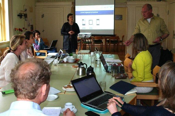 De workshop in de LaptopLounge in de Hofkerk