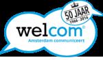 Logo jubilleum communicatievereniging Welcom 50 jaar