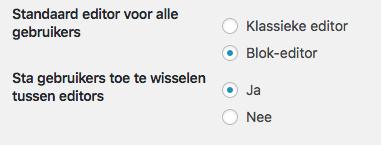 SchrijvSchrijven via de blokeditor van WordPressen-instellingen-WordPress